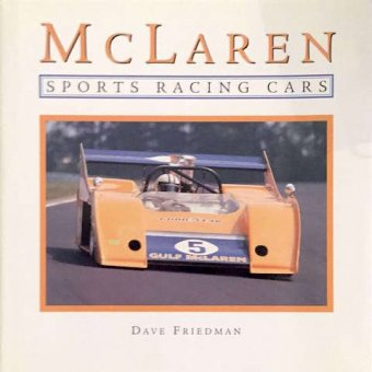 Dave Friedman, McLaren, sports racing cars, Motorbooks, 2000