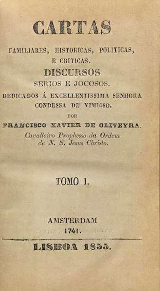 Resultado de imagem para Memórias das viagens de Francisco Xavier de Oliveira (1741)