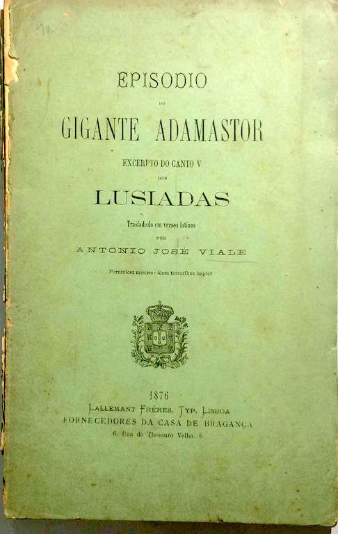 Luis de Camoes o gigante adamastor